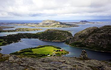 View across the islands of Flatanger, Nord-Trondelag, Norway, Scandinavia, Europe