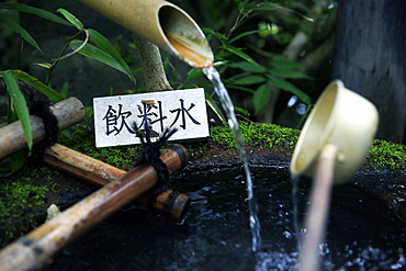 Japanese garden outside the Tokugawa Mausoleum, Nikko, Honshu, Japan, Asia