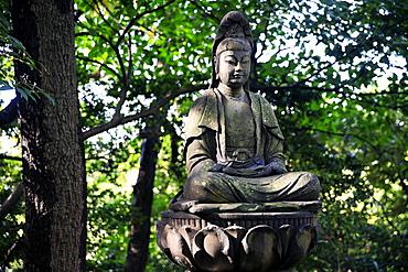 Buddha in the Sankeien Garden, Yokohama, Tokyo, Japan, Asia