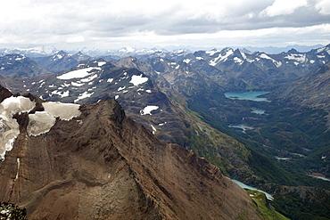 Mountain landscape, Cordon Martial, Tierra del Fuego, Argentina, South America