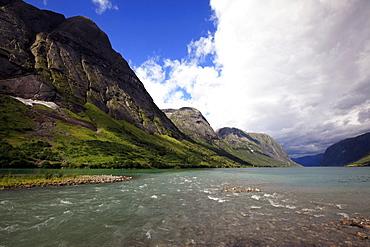 A fjord in the Fjordland region, western Norway, Scandinavia, Europe