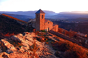 A rural church in the high country of northern Catalonia, Spain, Europe