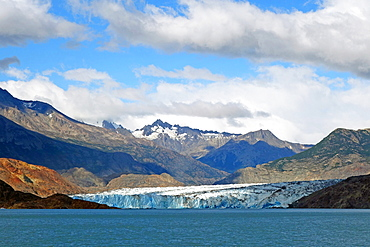 The Southern Patagonian Icecap terminating in Lago Viedmar, El Chalten, Patagonia, Argentina, South America