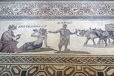 Roman mosaic flooring in the Paphos Archaeological Park, UNESCO World Heritage Site, Paphos, Cyprus, Europe