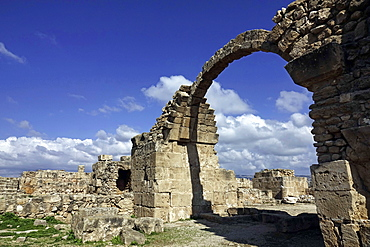 Archway in the Paphos Archaeological Park, UNESCO World Heritage Site, Paphos, Cyprus, Europe