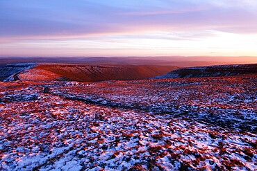 Brecon Beacons in winter, Brecon Beacons National Park, South Wales, United Kingdom, Europe