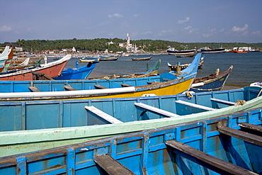 Fishing boats, Vizhinjam, Trivandrum, Kerala, India, Asia