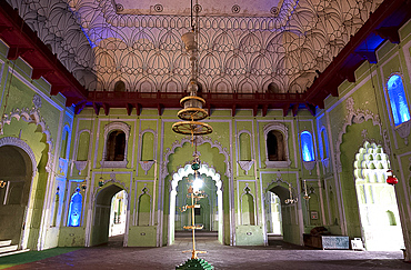 Interior of Chota Imambara, built as a congregation hall for Shia Muslims by Muhammad Ali Shah in 1838, Lucknow, Uttar Pradesh, India, Asia