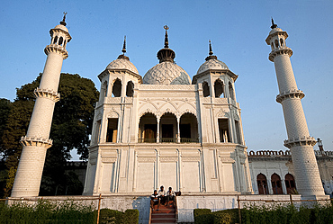 The treasury, built for architectural symmetry at the Chota Imambara in Lucknow, Uttar Pradesh, India, Asia