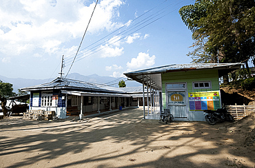 Small, newly built, local government hospital serving remote villages in the Naga hills, Nagaland, India, Asia