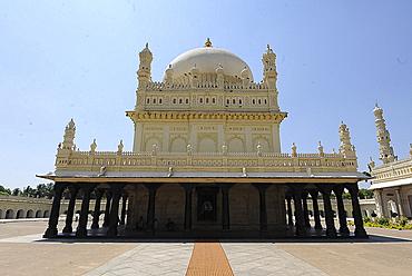 Tipu Sultan's mausoleum, the final resting place of The Tiger of Mysore, Gumbaz, Srirangapatna, Karnataka, India, Asia