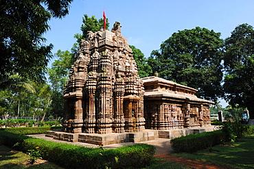 Vimana, end of the 10th century sandstone Varahi temple dedicated to Varaha, Chaurasi, Prachi Valley, Odisha, India, Asia