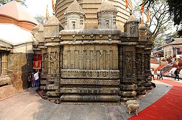 The Garbhagriya, inner sanctum section of the Kamakhya temple, a shakti pitha, first opened in 1565, Gauhati, Assam, India, Asia