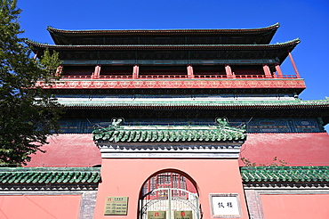 The Drum Tower, built in 1272 and the official timepiece of Beijing until 1924, Beijing, China, Asia