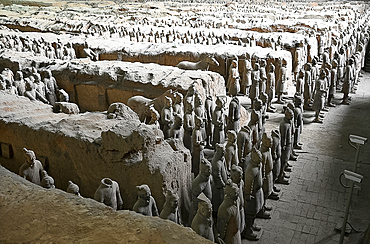 Terracotta Army, funerary sculptures buried with Emperor Qin Shi Huang in 210-209 BC, UNESCO World Heritage Site, Xian, Shaanxi, China, Asia