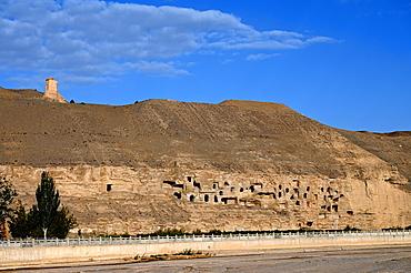 Mogao caves, The Thousand Buddha Grottoes, UNESCO World Heritage Site near Dunhuang, Gansu, China, Asia