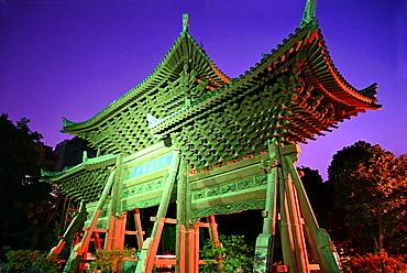 Huajue Great mosque of Xian wooden entrance gate, Ming dynasty, Xian, Shaanxi, China, Asia
