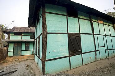 Typical Assamese house, Kurua village, Assam, India, Asia