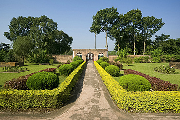 Khushbagh, Garden of Happiness, enclosing the tombs of Siraj-ud-Daulah and his family, Murshidabad, West Bengal, India, Asia