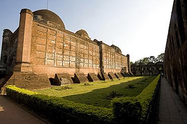 Exterior wall, Great Katra Mosque, Murshidabad, West Bengal, India, Asia