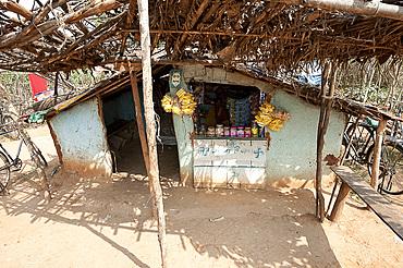 Small village shop in rural Orissa, India, Asia