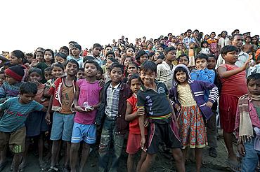 Village children, rural West Bengal, India, Asia