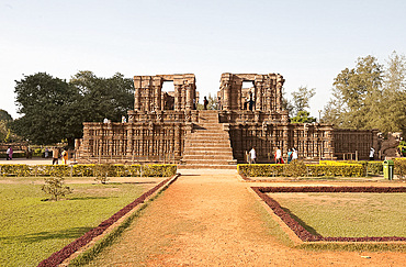 Konarak Sun temple dating from the 13th century, south side, UNESCO World Heritage Site, Konarak, Orissa, India, Asia