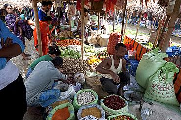 Tizit village weekly local market, Nagaland, India, Asia
