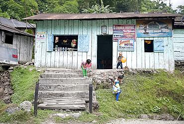 Basic roadside hotel, Dahung, Arunachal Pradesh, India, Asia