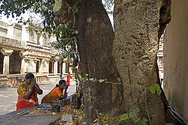 Hindu shrine in grounds of temple, for women who want to have a child, Thanjavur, Tamil Nadu, India, Asia