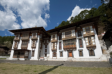 Kurjey Lakhang, the final resting place of the first three kings of Bhutan, Bumthang Valley, Bhutan, Asia