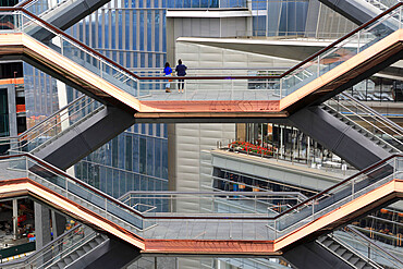 Interior, The Vessel, Staircase, Hudson Yards, Manhattan, New York City, New York, USA
