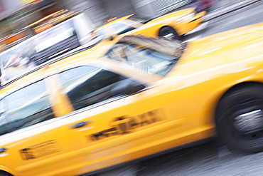 Yellow taxi, New York, United States of America, North America