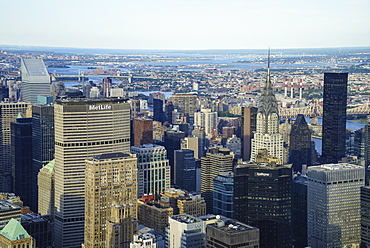 Manhattan skyline with the Chrysler Building in view, Manhattan, New York City, New York, United States of America, North America