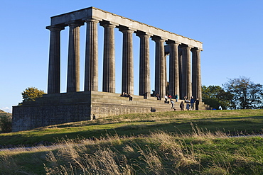 The National Monument, Calton Hill, Edinburgh, Lothian, Scotland, United Kingdom, Europe