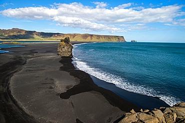 Black sand beach near Vik, Iceland, Polar Regions