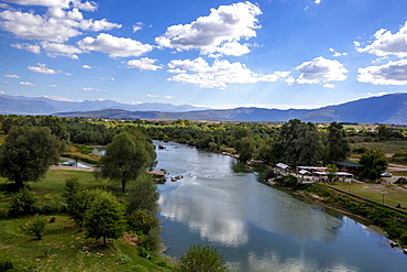 Drini river near Gjakove, Kosovo, Europe