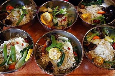 Vegetarian meal, Tu An Buddhist temple, Haute-Savoie, France, Europe