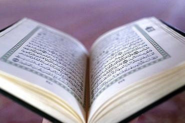 Open Quran, Putra Mosque (Masjid Putra), Putrajaya, Malaysia, Southeast Asia, Asia