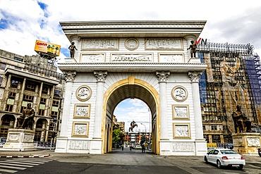 Macedonia Gate, Skopje, Republic of Macedonia, Europe