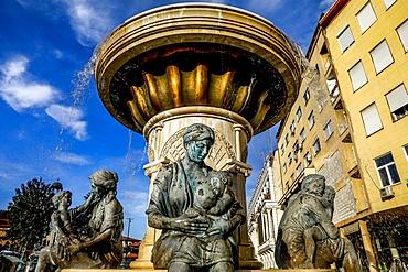 Mothers' Fountain, Skopje, Republic of Macedonia, Europe