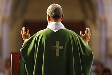 Basilica of Our Lady of Geneva, Sunday Mass, Eucharist celebration, Geneva, Switzerland, Europe