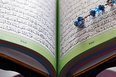 Quran and Tasbih (Muslim prayer beads), France, Europe