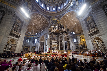 Pope Francis celebrates Epiphany Holy Mass in Saint Peter's Basilica, Vatican, Rome, Lazio, Italy, Europe