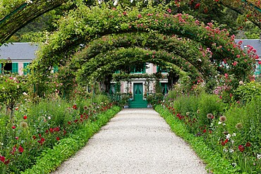 Claude Monet's house and garden in Giverny, Eure, France, Europe
