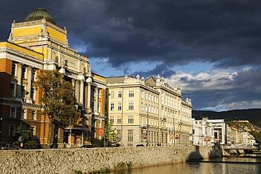 Bank of the Miljacka River, Sarajevo, Bosnia and Herzegovina, Europe