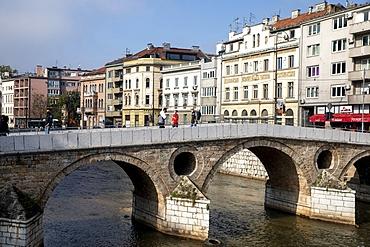 Bridge over the Miljacka River, Sarajevo, Bosnia and Herzegovina, Europe