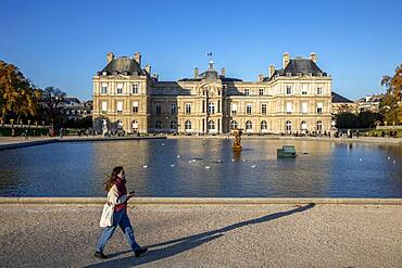 The Senate seen from the Luxembourg garden, Paris, France
