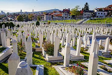 Martyrs' Memorial Cemetery Kovaci, the main cemetery for soldiers from the Bosnian Army, Stari Grad, Sarajevo, Bosnia, Europe