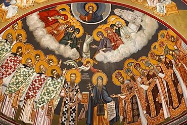 Dome fresco, St. Sava church, Beograd (Belgrade), Serbia, Europe